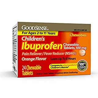 GoodSense Children's Ibuprofen Chewable Tablets, 100 mg, 24 Count, Pain Reliever and Fever Reducer (NSAID), Temporarily Reduces Fever and Relieves Minor Aches and Pain