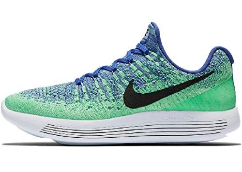 Nike Women s Lunarepic Low Flyknit 2 Running Shoes 6 B M US, Medium Blue Aluminum Electro Green Black