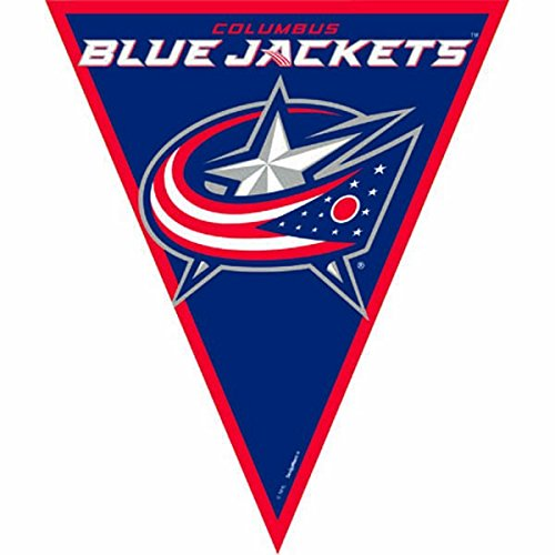Super Cool Columbus Jackets NHL Pennant Banner, 1 Piece, Made from Plastic, Birthday/ Victory/ Tailgate Party, 12 Feet by Amscan (1 Columbus)