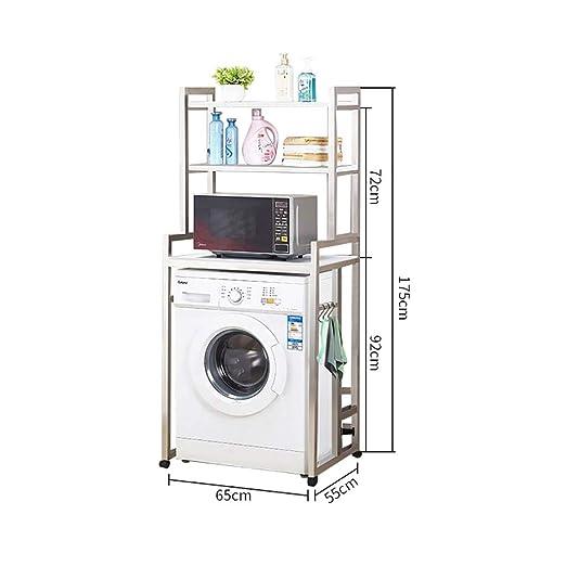 Machine shelf Lavadora, secadora de lavadora móvil de cuatro ...
