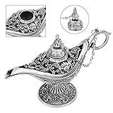 Arabian Light Hollow Carved Metal Zinc Alloy Vintage Aladdin Genie Oil Lamp Pot
