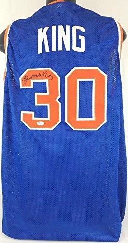 Bernard-King-New-York-Knicks-Signed-Blue-Jersey-JSA-Witness-Autograph-WP285413-Autographed-NBA-Jerseys