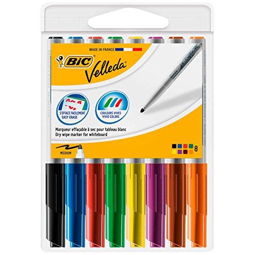 BIC Velleda 1741 Whiteboard Markers Assorted Colours 8 Pack Bic Velleda Whiteboard Marker