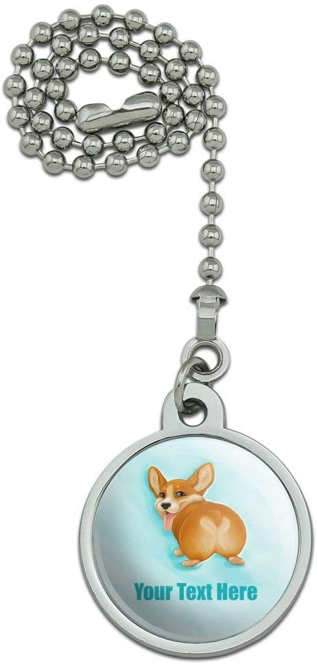 GRAPHICS & MORE Personalized Custom Corgi Butt 1 Line Ceiling Fan and Light Pull Chain