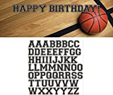 Creative Converting Sports Fanatic Basketball Giant Party Banner with Stickers, Multicolor