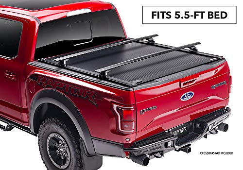 RetraxONE XR Retractable Truck Bed Tonneau Cover | T-60841 | fits Tundra CrewMax 5.5' Bed with Deck Rail System (07-18)