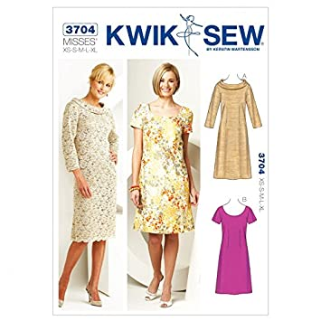 Kwik Sew Damen Schnittmuster 3704 – Kleid (O/S): Amazon.de: Küche ...