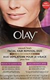 Olay Smooth Finish Facial Hair Removal Duo - Medium To Coarse Hair, Box. by Olay