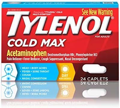 Tylenol Cold Max Daytime Caplets, 24 Ct.