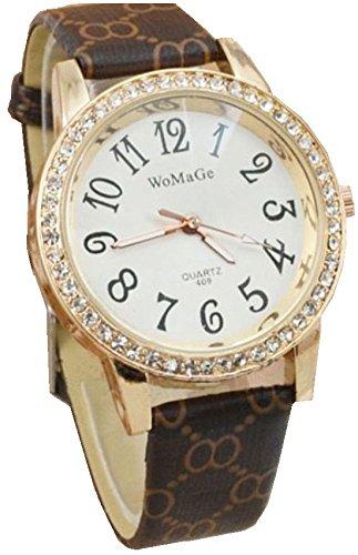 dec9575bff5e Lovely Girls Ladies infantil Kid Smart parte piezas de oro rosa tiempo reloj  café – perfecto