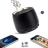 Wifi HD 1080P Spy Camera Bluetooth Speakers Hidden Camera Music Player with IR Night Vision Wireless Mini Video Recorder Nanny Cam Via Free APP iOS/Android/PC/Mac