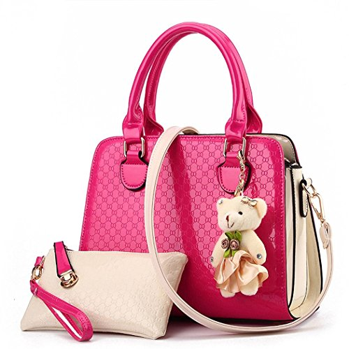 Ryse Womens Fashionable Exquisite Bear Ornaments Mixed Color Handbag Shoulder - In Uk Shoping