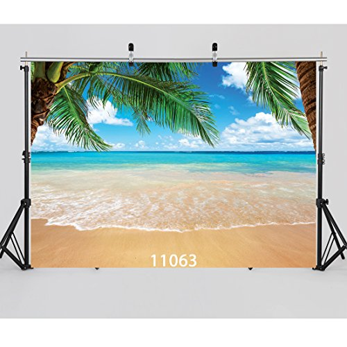 Tropical Beach Photo - WOLADA 7x5ft Tropical Beach Photography Backdrop Sea Photo Background for Party Studio Props 11063