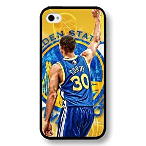 UniqueBox- Customized Personalized Black Hard Plastic iPhone 4/4S Case, NBA Golden State Warriors Superstar Stephen Curry iPhone 4/4S case, Only Fit iPhone 4/4S case