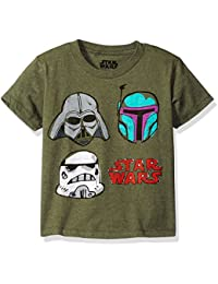 Little Boys' Darth Vader, Boba Fett, Stormtrooper T-Shirt