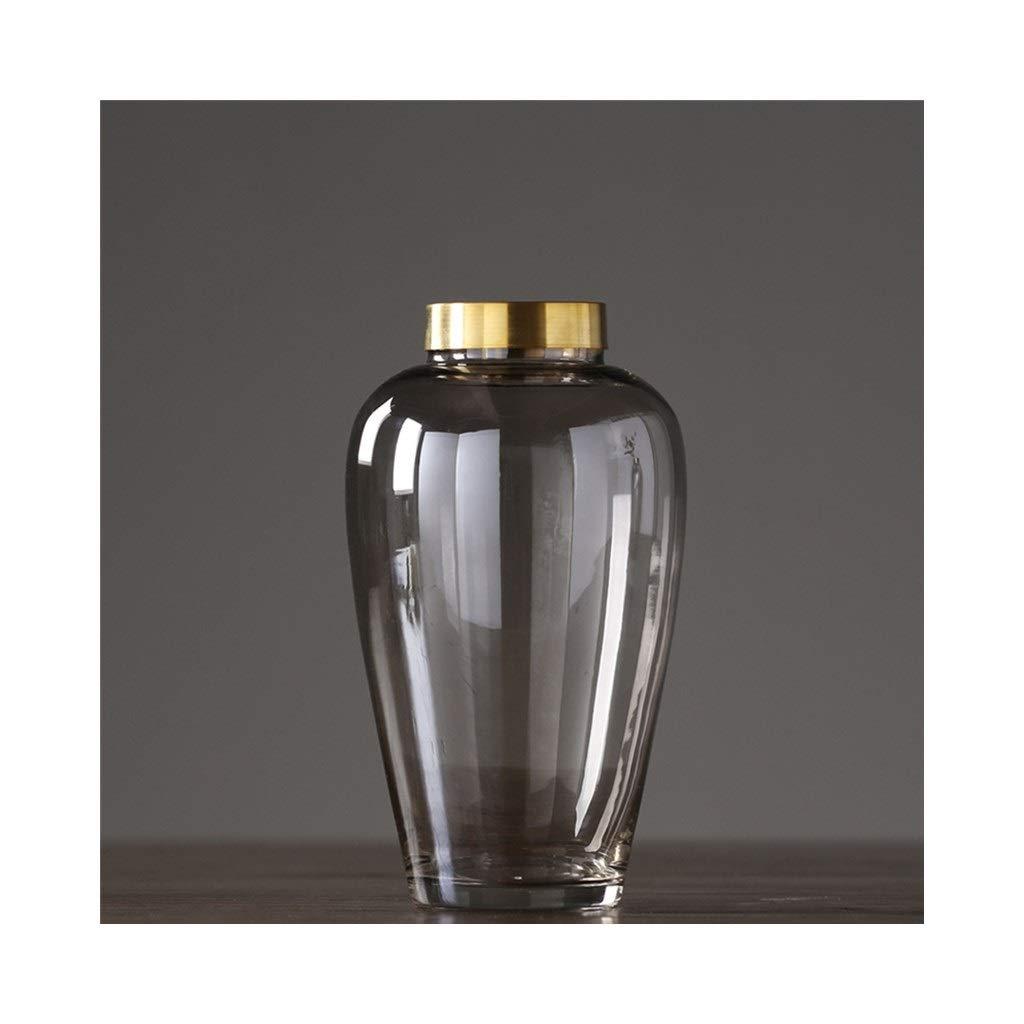 透明ガラス現代のミニマリストの家の装飾のリビングルームのダイニングルームの花瓶 (Size : 15cm*27cm) B07SD14RNB  15cm*27cm