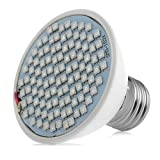 MEXUD-E27 106LED Plant Grow Light Lamp Bulb Veg Flower Indoor Hydroponic Full Spectrum (Wattage:18W/106LEDs)
