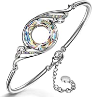 Kate Lynn Weihnachtsgeschenke Armband Frauen Geschenk für Frauen Swarovski Kristall Armband Schmuck Damen Schmuckkästchen...
