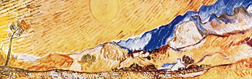 (Vincent Van Gogh Poster Adhesive Photo Wall-Print - Wheat Field Behind Saint-Paul Hospital, The Harvest, 1889 (94 x 30 inches) )