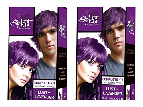 Splat Rebellious Colors Hair Coloring Kit - Lusty Lavender (Set of 2) by Splat by Splat
