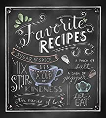Keep your recipes in one place and cook in style with this all-inclusive recipe binder!Includes: - 50 pre-formatted recipe pages (recipes not included) - 2 splash guards - 6 tabbed dividers - 1 matching notepad - 3 matching magnets - c...