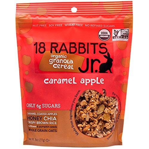 18 Rabbits Junior Organic Granola Cereal, Caramel Apple, 8 Ounce -