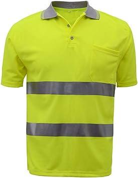 SFVest Camiseta de Trabajo Hombre Reflectante Alto Visible Camisa de Seguridad: Amazon.es: Bricolaje y herramientas