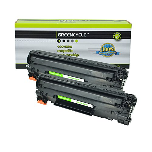 GREENCYCLE 2 Pack Compatible Toner Cartridge Replacement for Canon 126 CRG-126 CRG126 3483B001 Black for use in Canon ImageClass LBP6200d, and LBP6230dw Wireless Laser Printers