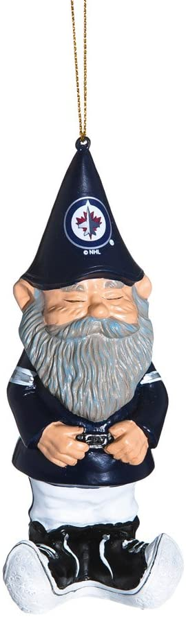 Team Sports America Winnipeg Jets Mini Garden Gnome Christmas Ornament