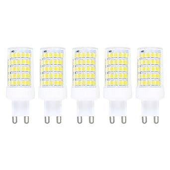 Regulable 10W G9 LED Bombilla de Luz Fría 6000K Luz de Maíz Con 800ml Lumenes 360