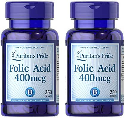 Puritans Pride Vitamin B-12 1000 Mcg Timed Release Caplets, 250 Count -Pack of 2