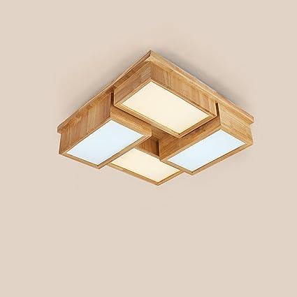 Style wei Ywyun lámpara de Techo Japonesa Cuadrada de Madera ...