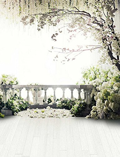 Generic Scenic Photography Backdrops Floral Tree Wedding Background for Photo Studio Romantic Wood Floor LQ-6942