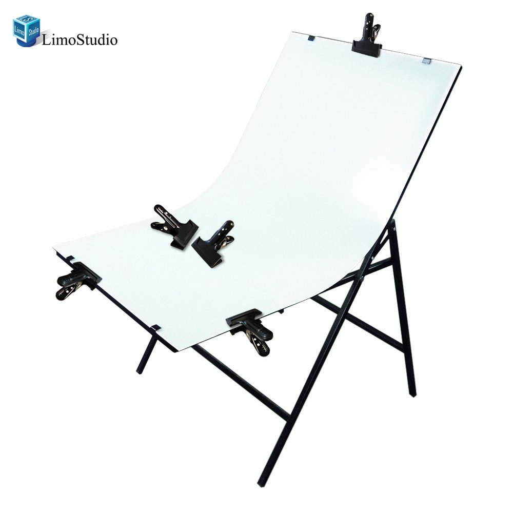 LimoStudio Photography Photo Studio Foldable Photo Shooting Table Background with 6PCS Background Clamps, AGG1479