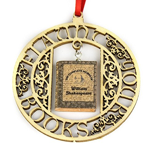 WILLIAM SHAKESPEARE The Complete Works Clay Mini Book FRAMED Home Décor Ornament by Book Beads
