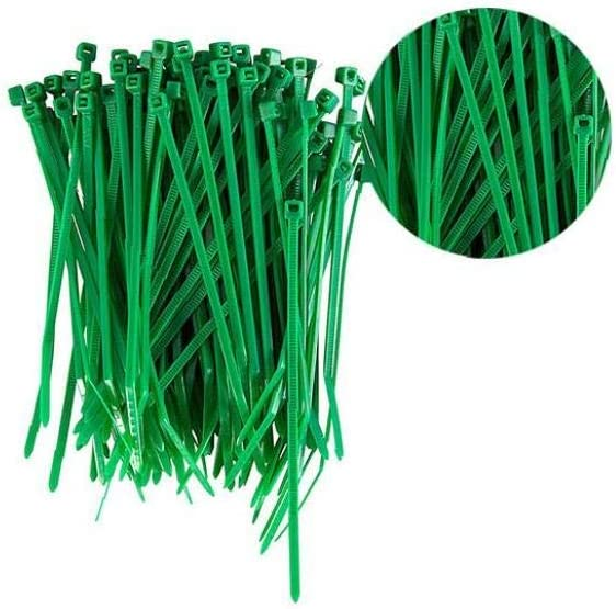 100PCS Green Cable Ties 100Mm X 2.5Mm Zip Tie Bases All Sizes High Quality Strong Nylon Zip Ties by Gocableties