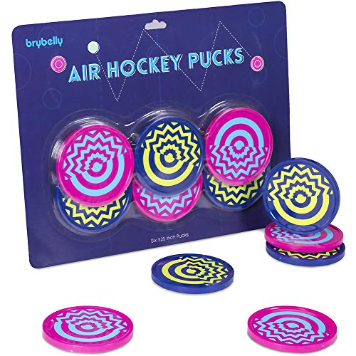 - Vivid Two-tone Air Hockey Pucks (6-pack) | Wear-proof Molded Psychedelic Patterns and Designs | Large 3.25-inch Pucks for Standard Air Hockey Tables | Perfect Addition to Game Rooms and Arcades