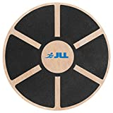 JLL® Wooden Balance Board, ANTI SLIP SURFACE, Exercise Fitness Workout Rehabilitation Training Exercise Wobble Board