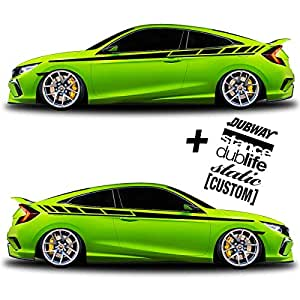 Amazoncom SG MOTIV Vinyl Body Side Graphics Racing Stripes Car - Custom car magnets for sports