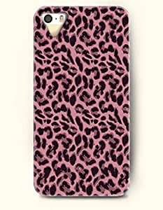 iPhone 5/5S Case, OOFIT Phone Cover Series for Apple iPhone 5 5S Case (DOESN'T FIT iPhone 5C)-- Pink And Black Leopard Stripe -- Animal Print