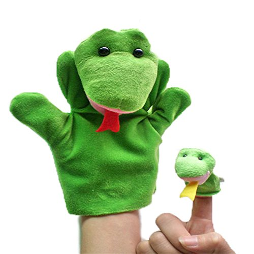 Cat Kitty Diy Halloween Costume (Hot 2Pcs (1 Big+1 Small) Lovely Kids Baby Plush Toys Finger Puppet Props Animals Hand)