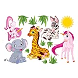 Baby Nursery Animal Wall Decals for Kids Rooms, Baby, Boys & Girls Bedroom - Peel & Stick,Removable Vinyl Wall