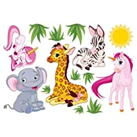 Baby Nursery Animal Wall Decals for Kids Rooms, Baby,...