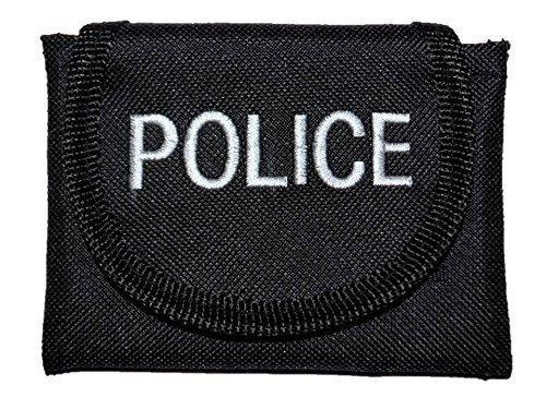 Gant noir avec broderie de POLICE pour courroie PolAmb Products