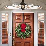 Haute Decor Over Door Adjustable Length Wreath Hook and Hanger - Matte Black - Holds up to 20