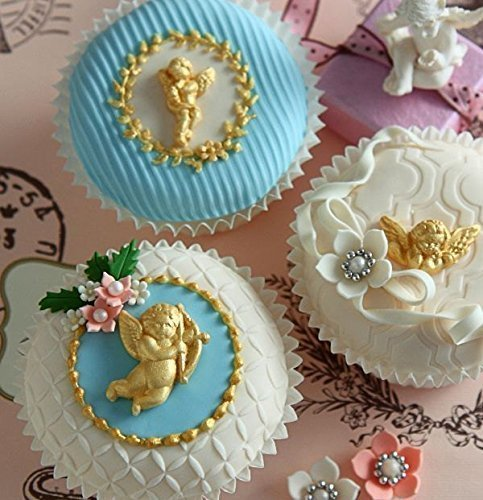 Sugarcraft Molds Polymer Clay Cake Border Mold Soap Molds Resin Candy Chocolate Cake Decorating Tools tiny cherubs mold