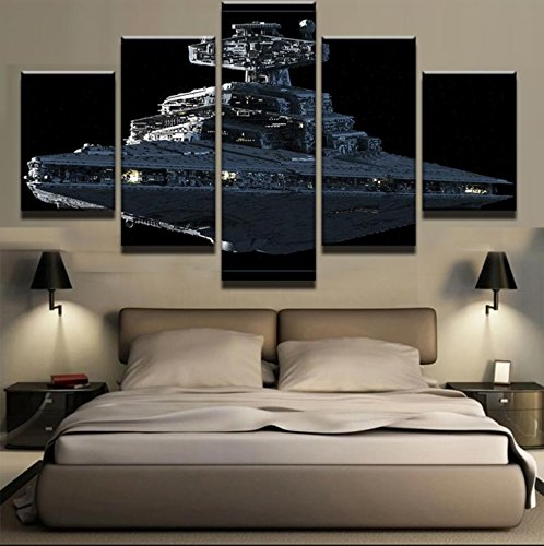 5 Pieces/Set Star Wars Imperial Battleship Star Destroyer Modern Home Wall Decor Canvas Picture Art HD Print Painting Canvas Art