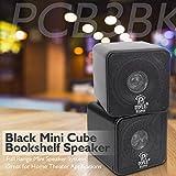 """4"""" Mini Cube Bookshelf Speakers - Paper Cone"""