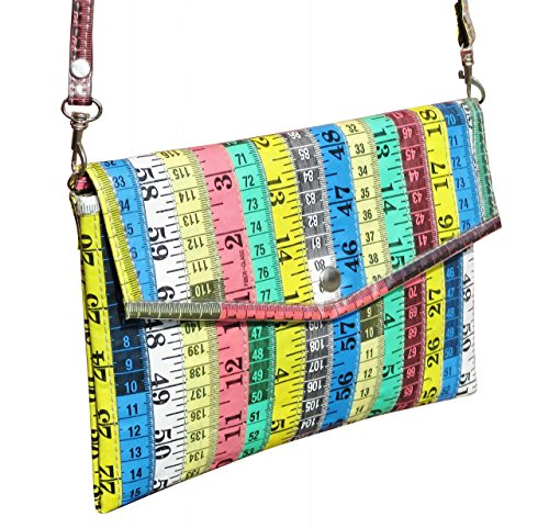 Clutch purse made from measuring tapes - FREE SHIPPING for sale  Delivered anywhere in USA