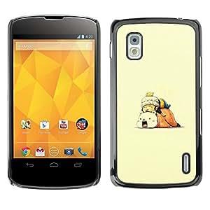 // PHONE CASE GIFT // Duro Estuche protector PC Cáscara Plástico Carcasa Funda Hard Protective Case for LG Nexus 4 E960 / Spleey Amigos /